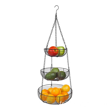 Modern 3-Tier Fruit Bowls Dining Table Kitchen Counter Vegetable Storage Basket Stand Fruit Basket