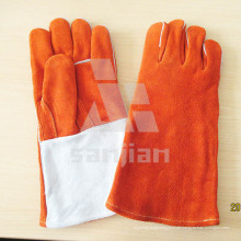 """Orange 13 """"Split Leder Ab / Bc Grade Schweißsicherheitshandschuh mit CE"""