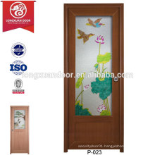 China Plastic UPVC Frosted Glass Doors for Toilet or Bathroom or Kitchen