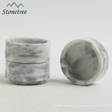 Black marble candle jar stone candle holder