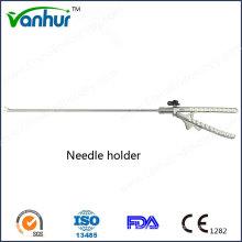 Surgical Instruments Laparoscopic Curved Needle Holder