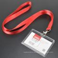 Красный цвет Пользовательский логотип ID держателя карты Обычная полиэстер Lanyard