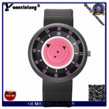 Silicone borracha colorido relógio de moda Dial Vogue alta qualidade marca relógios para homens mulheres couro relógio de pulso senhoras