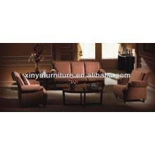 Новый дизайн ткани кожаный диван отеля XY2848