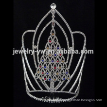 Wholesale Crystal Christmaslarge tall Tree Tiara and Crowns