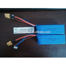 Batterie 783496SP Rechargeable 14.8V 2200mah lipo hélicoptère rc avec connecteur