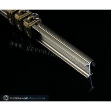 Champagner Vorhangschiene aus Aluminiumprofil mit elektrophoretischer Wirkung