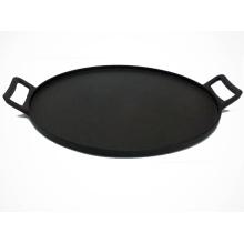 14 inch black cast iron pizza pan