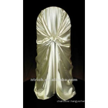 self-tie back chair cover,CT193 satin chair cover,universal chair cover