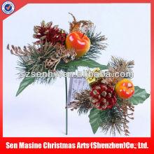 Vente en gros de fleurs de feutre décorées de décorations de couronnes de Noël