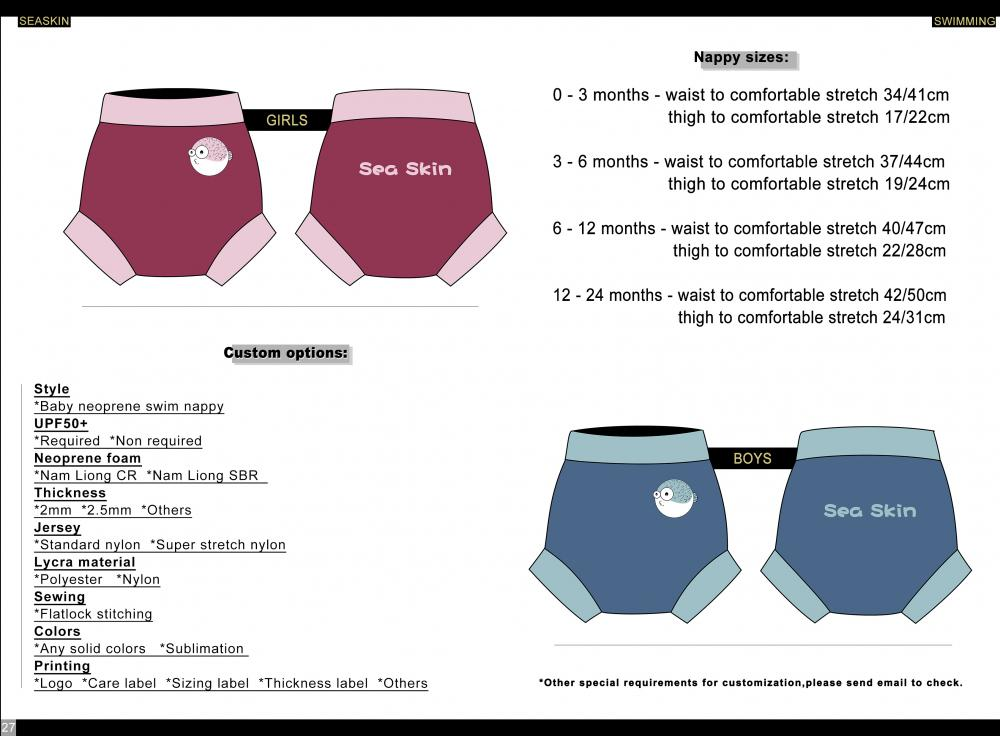 Seaskin Baby Neoprene Swim Nappy
