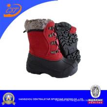 Arbeiten Sie Plaid Cloth Upper TPR wasserdicht Winter Snow Boots für Kinder