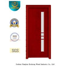 Porta de aço de segurança Simplestyle com vidro (S-1028)