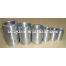 Coupleurs de connexion en acier barres d'armature acier manchon de connexion de rebar pour le marché de l'Inde