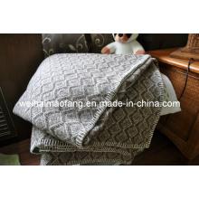 Manta de lana de tejido puro Merino (Nmq-Wb030)