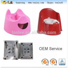 vaso de plástico cadeira potty para bebês e crianças fabricante de molde de injeção