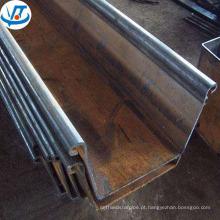 Pilha de aço laminada a alta qualidade 400mm da chapa de aço da forma de u da pilha da chapa de aço Sri Lanka