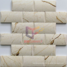 Brick Like Belved Stone Marble Mosaic (CFS1056)