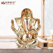 Décoration de dieu hindoue en résine de ganesha pour décoration de salon