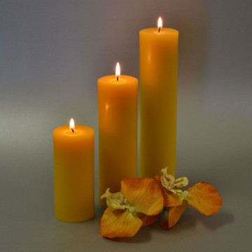 Partihandel Good Quality Church Pillar Pure Beeswax Candle