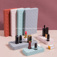 Caja de cosméticos de almacenamiento de escritorio de estante de almacenamiento de lápiz labial de silicona