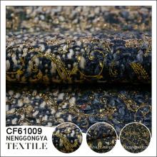Fait sur commande en gros 100% polyester vêtement épais tweed tissu
