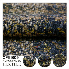 Custom made Wholesale 100% polyester garment thick tweed fabric