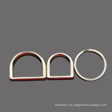 """Metal aço inoxidável D anel fivela 1 """"anel de anel de diâmetro interno para correia Keeper"""