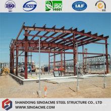 Structure de cadre en acier pour la construction de l'atelier de traitement