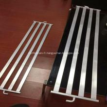 Plaque de refroidissement à l'eau d'extrusions en aluminium pour échangeur de chaleur