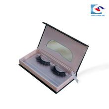 caixa de empacotamento cosmética luxuosa do papel da pestana falsa