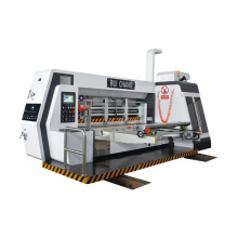 1224 double glass shield automatic corrugated carton boxes printing and slotting machine