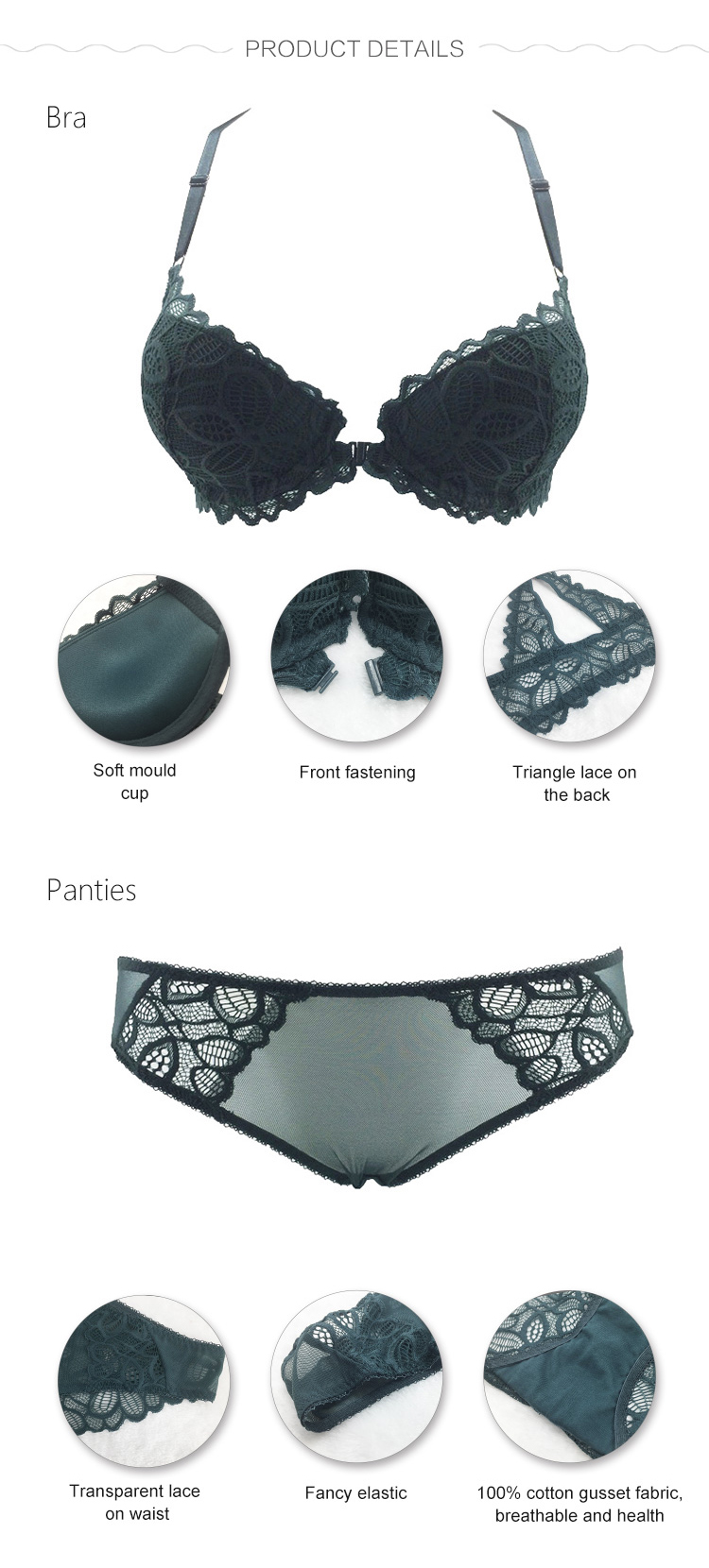 Women underwear set-product detail