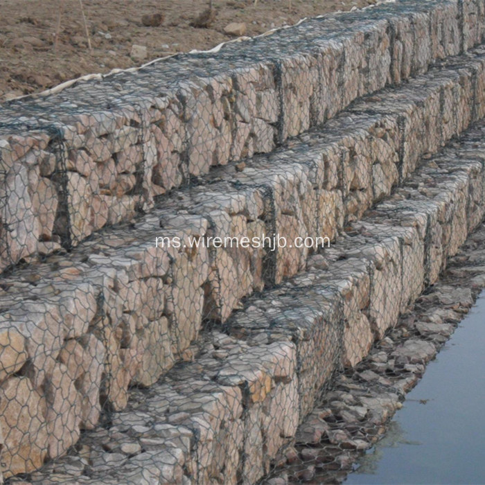 Vinyl Coated Hexagonal Mesh Basket Gabion