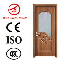 Puerta de madera moderna diseña la puerta de la habitación de la ducha del PVC