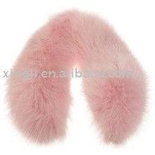 Cuello de piel de zorro rosa