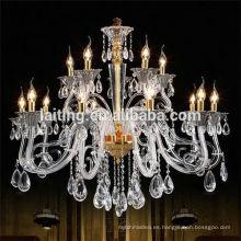 Simple colgante de cristal LED europeo chanderlier iluminación 85390