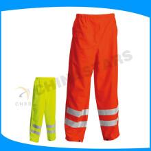 150D oxford fabric orange waterproof hi vis pants for workwear