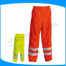 150D oxford tela laranja impermeável olá vis calças para workwear