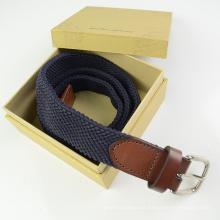 EURO Multi Color tejido poliéster y cinturón de cuero
