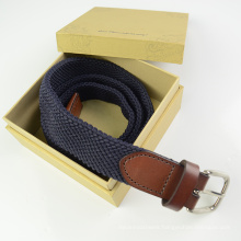 EURO Multi Color Weave Polyester and Leather Belt