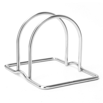 Multi-Functional Creative Kitchen Storage Shelves Stainless Steel Wire Chopping Board Holder Cutting Board Rack