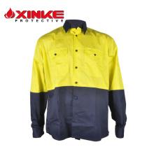 Camisa de trabajo en algodón de dos tonos Cool Breeze de Hi-Vis