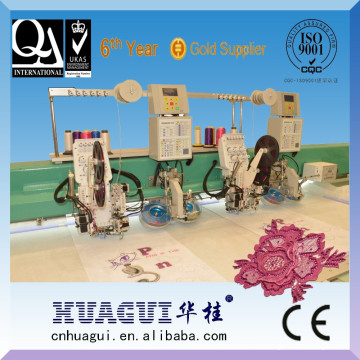 HUAGUI zwei Kopf Tajima Stickmaschine Preis Strass Maschine zum Verkauf