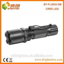 Factory Supply Aluminium Outdoor Tactical Strobe Usé Handheld XPE R3 Cree Tactical Strobe High power led Torch with Clip