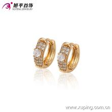90370 Xuping neueste Mode Kristall Hoop Kupferlegierung Ohrring für Damen