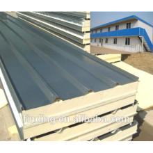 Heat insulation pu sandwich roof panel for prefab house