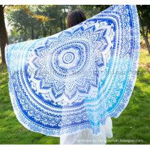 Custom Summer Chiffon Fashion Round Beach Towel Pareo for Promotion