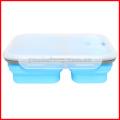 Silicone dobrável portátil lancheira Bento Boxes Folding Recipiente De Armazenamento De Alimentos Lunchbox Eco-Friendly