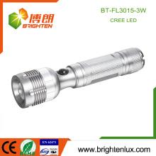 Factory Supply OEM 3watt Cree Aluminium Matériau Lumière blanche À la main Meilleur faisceau réglable haute puissance led lampe de poche